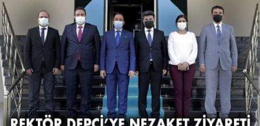 REKTÖR DEPCİ'YE NEZAKET ZİYARETİ