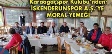 İSKENDERUNSPOR A.Ş.'YE MORAL YEMEĞİ